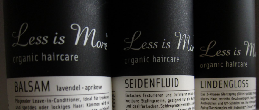 Less is More organic haircaire