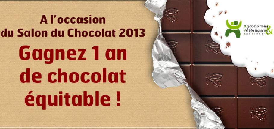Concours 1 an de choco AVSF Producteir Haiti et Salon du chocolat 2013