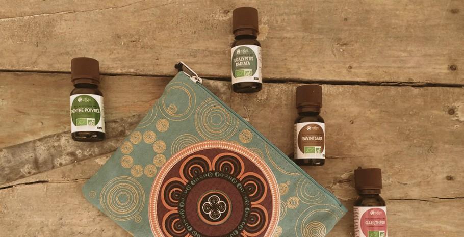 huiles essentielles kit de base