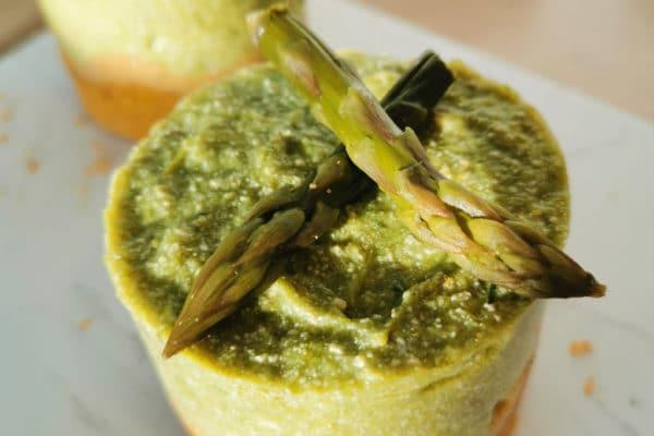 Recette saine et facile de cheesecake aux asperges